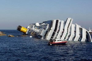 Costa Concordia shipwreck (wire photo)