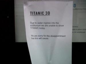 Titanic 3D Closed Water Damage