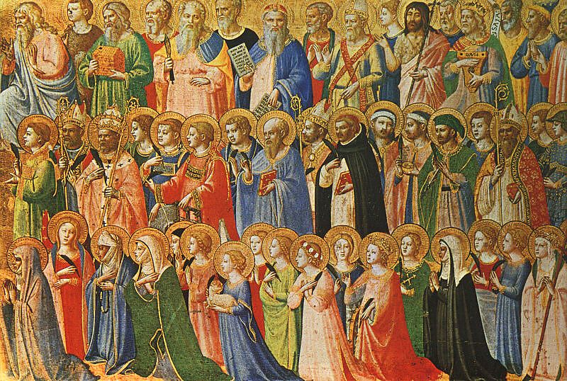 The Forerunners of Christ with Saints and Martyrs (about 1423-24) Public Domain