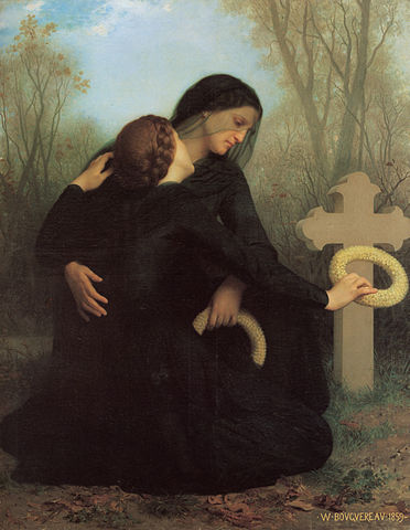 Day of The Dead by William Bouguereau (1825-1905) Public Domain