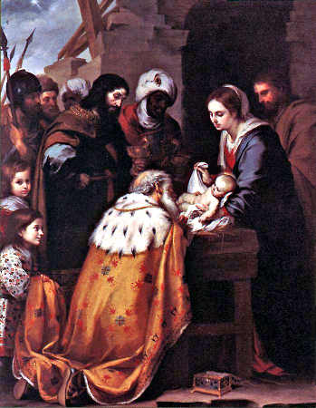 Wise Men Adoration(Bartolomé Esteban Murillo) Photo: Public Domain (This media file is in the public domain in the United States. This applies to U.S. works where the copyright has expired, often because its first publication occurred prior to January 1, 1923.)