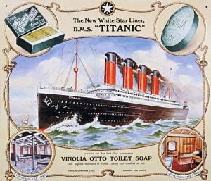 Poster Advertising Vinolia Otto Soap for Titanic Image:Public Domain