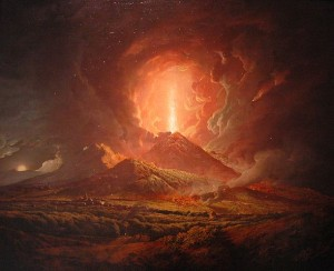 Vesuvius from Portici by Joseph Wright of Derby(1734–1797) Image:Public Domain