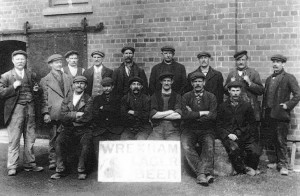 Wrexham Lager Beer workers, circa 1910. Image: public domain