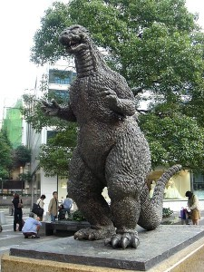 Godzilla Statue, Tokyo Photo:Wikiodaiba(Wikipedia)