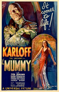 Poster for the 1932 film The Mummy Image:Public Domain