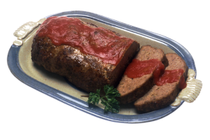 Meatloaf with Sauce Photo: public domain
