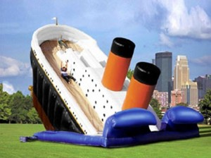 Titanic Bouncy Slide Photo:public domain