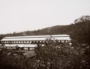 Gutta-percha factory 'Tjipetir' Circa 1920-1930 Source: Tropenmuseum,G.F.J. (Georg Friedrich Johannes) Bley (Fotograaf/photographer)