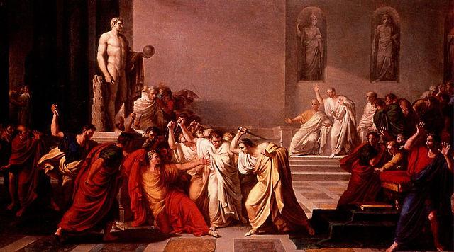 The Death of Julius Caesar,Vincenzo Camuccini (1771–1844). Public Domain