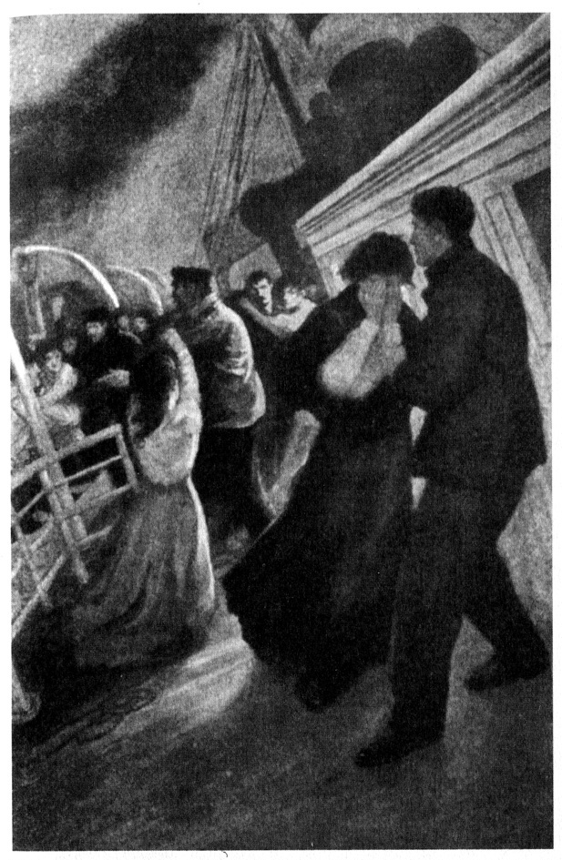 The Sad Parting From Story of the Wreck of the Titanic;Marshall Everett;1912 Artist Unknown Public Domain
