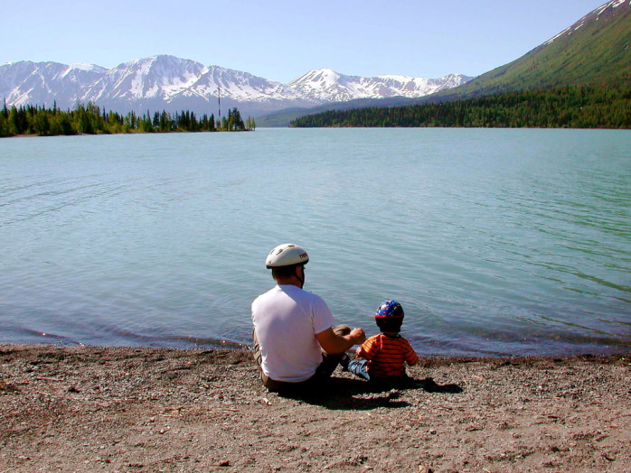 Father's Day at Kenai National Wildlife Refuge Photo: Karen Leubenstein, USFWS