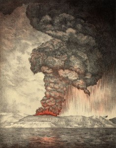 The eruption of Krakatoa, and subsequent phenomena. Report of the Krakatoa Committee of the Royal Society (London, Trubner & Co., 1888) Public Domain