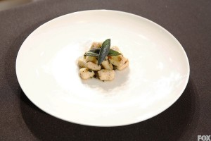 Nick, once more pulling from childhood memories of his mother and grandmother's cooking, creates a nearly perfect gnocchi dish. Photo: Fox