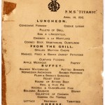 Titanic Lunch Menu 14 April 1912. Photo: AP