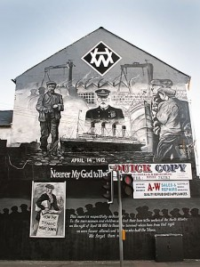 Titanic mural at Newtownards Road and Dee Street in Belfast, NI. (Andy Welsh,http://www.flickr.com/photos/wallrevolution/68715920/)