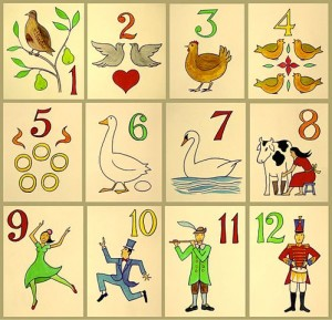 The Twelve Days of Christmas song poster Image: Xavier Romero-Frias(Wikimedia)
