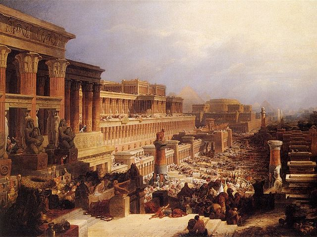 The Israelites Leaving Egypt, 1828/1830 by David Roberts (1796-1864) Public Domain(Wikipedia)